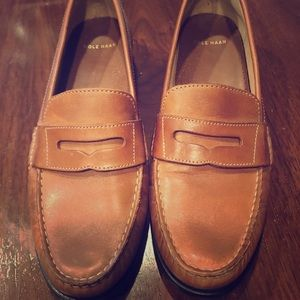 Cole Haan Cognac Pinch Brown Penny Loafer 8